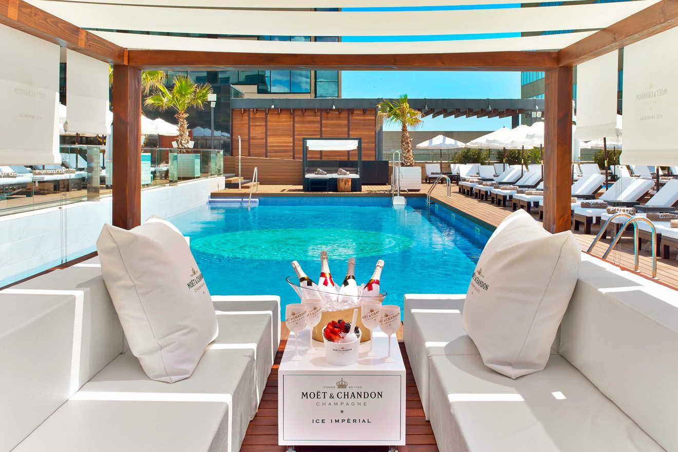 See photo for Beach club barcelona